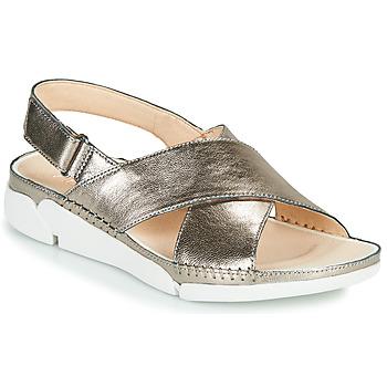 Schoenen Dames Sandalen / Open schoenen Clarks Tri Alexia Zilver