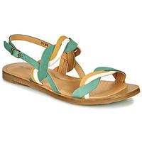 Schoenen Dames Sandalen / Open schoenen El Naturalista TULIP Groen / Geel / Wit