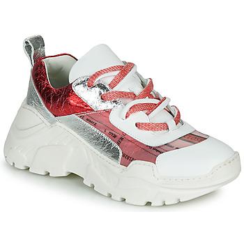 Schoenen Dames Lage sneakers Fru.it  Wit / Rood / Zilver