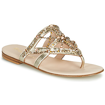 Schoenen Dames Teenslippers Fru.it CAROTE Goud