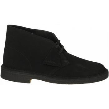 Schoenen Heren Laarzen Clarks DESERT BOOT M black