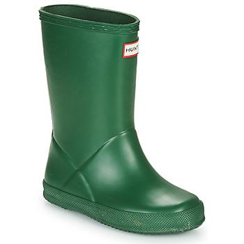 Schoenen Kinderen Regenlaarzen Hunter KIDS FIRST CLASSIC Groen