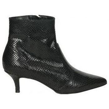 Schoenen Dames Enkellaarzen Stilmoda 9308 Noir