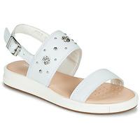 Schoenen Sandalen / Open schoenen Geox J SANDAL REBECCA GIR Wit