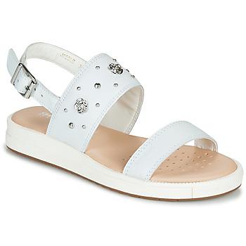 Schoenen Meisjes Sandalen / Open schoenen Geox J SANDAL REBECCA GIR Wit