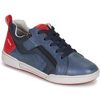 Schoenen Jongens Lage sneakers Geox J POSEIDO BOY Marine / Rood