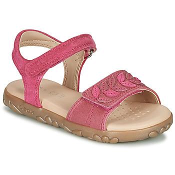 Schoenen Meisjes Sandalen / Open schoenen Geox J SANDAL HAITI GIRL Fushia