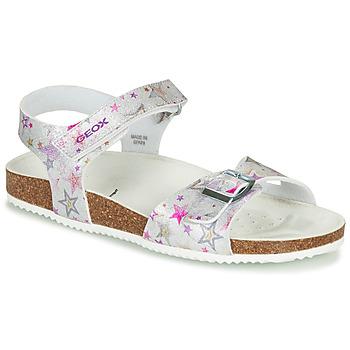 Schoenen Meisjes Sandalen / Open schoenen Geox J ADRIEL GIRL Zilver