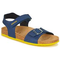 Schoenen Jongens Sandalen / Open schoenen Geox GHITA BOY Blauw / Geel