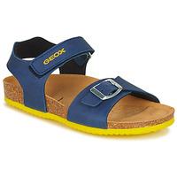 Schoenen Jongens Sandalen / Open schoenen Geox J GHITA BOY Blauw / Geel