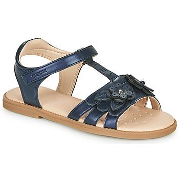 Schoenen Meisjes Sandalen / Open schoenen Geox J SANDAL KARLY GIRL Marine