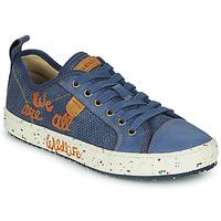 Schoenen Jongens Lage sneakers Geox J ALONISSO BOY Blauw / Bruin