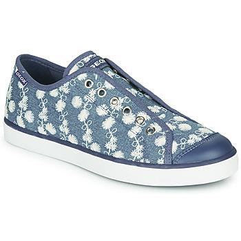 Schoenen Meisjes Lage sneakers Geox JR CIAK GIRL Blauw / Wit