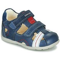 Schoenen Jongens Sandalen / Open schoenen Geox B KAYTAN Blauw