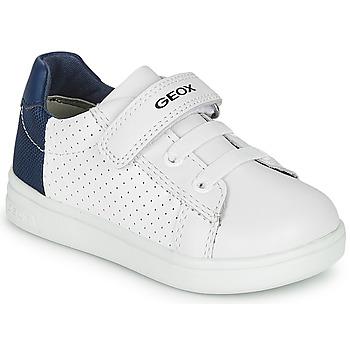 Schoenen Jongens Lage sneakers Geox B DJROCK BOY Wit / Blauw