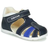 Schoenen Jongens Sandalen / Open schoenen Geox B ELTHAN BOY Marine / Wit