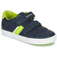 Schoenen Jongens Lage sneakers Geox GISLI BOY Marine / Groen