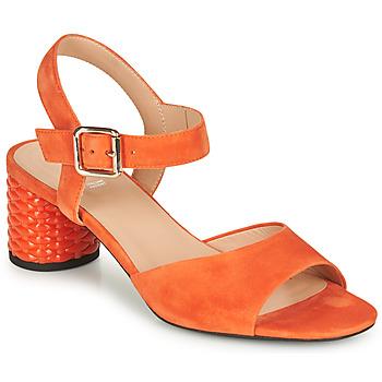 Schoenen Dames Sandalen / Open schoenen Geox D ORTENSIA MID SANDA Oranje