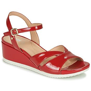 Schoenen Dames Sandalen / Open schoenen Geox D ISCHIA Rood