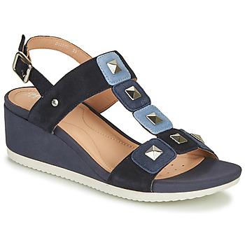 Schoenen Dames Sandalen / Open schoenen Geox D ISCHIA Blauw