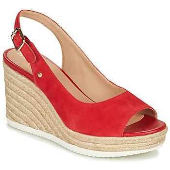 Schoenen Dames Sandalen / Open schoenen Geox D PONZA Rood