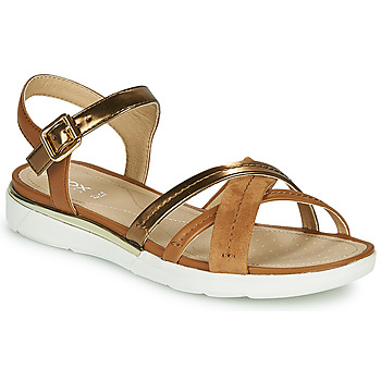 Schoenen Dames Sandalen / Open schoenen Geox D SANDAL HIVER Goud / Bruin