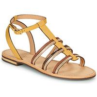 Schoenen Dames Sandalen / Open schoenen Geox D SOZY Geel / Bruin / Goud