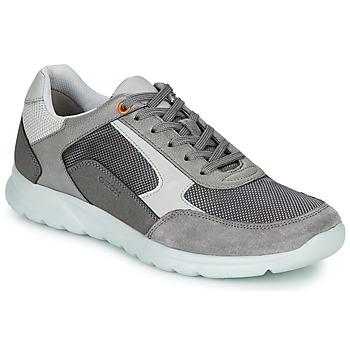 Schoenen Heren Lage sneakers Geox U ERAST Grijs / Wit / Oranje