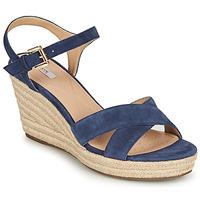 Schoenen Dames Sandalen / Open schoenen Geox D SOLEIL Blauw