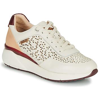 Schoenen Dames Lage sneakers Pikolinos SELLA W6Z Wit / Bordeau