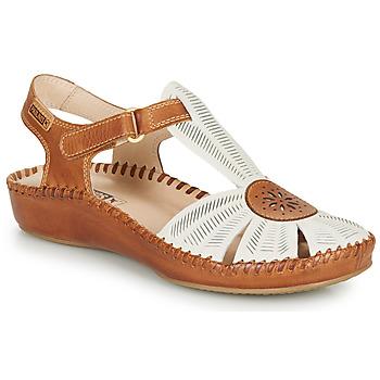 Schoenen Dames Sandalen / Open schoenen Pikolinos P. VALLARTA 655 Wit / Camel
