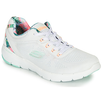 Schoenen Dames Fitness Skechers FLEX APPEAL 3.0 Wit