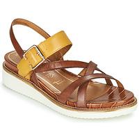 Schoenen Dames Sandalen / Open schoenen Tamaris EDA Bruin / Geel
