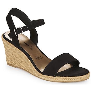 Schoenen Dames Sandalen / Open schoenen Tamaris  Zwart