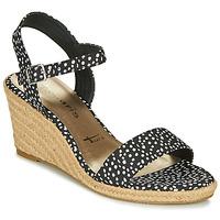 Schoenen Dames Sandalen / Open schoenen Tamaris LIVIA Zwart / Wit