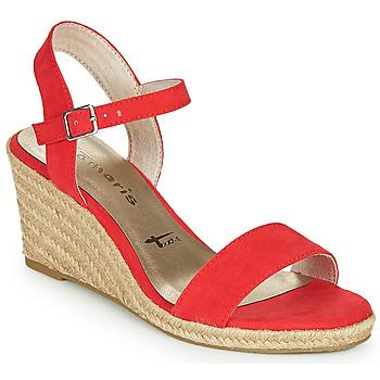 Schoenen Dames Sandalen / Open schoenen Tamaris LIVIA Rood