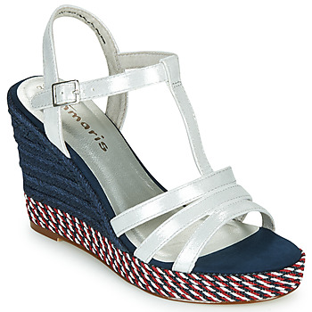 Schoenen Dames Sandalen / Open schoenen Tamaris CYNARA Wit / Marine / Rood