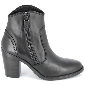 Schoenen Dames Enkellaarzen Porronet Boots Acap Noir Zwart