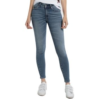 Textiel Dames Skinny Jeans Lois Jean denim Blue-Lue Ankle High 960 Blauw