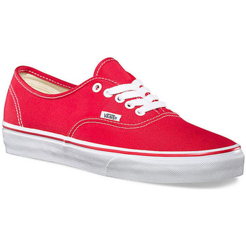 Schoenen Lage sneakers Vans AUTHENTIC Rouge