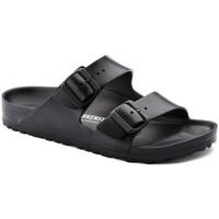 Schoenen Dames Leren slippers Birkenstock ARIZONA EVA Noir
