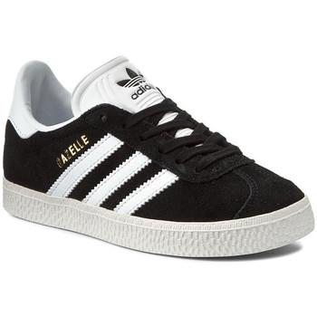 Schoenen Kinderen Lage sneakers adidas Originals GAZELLE J Noir