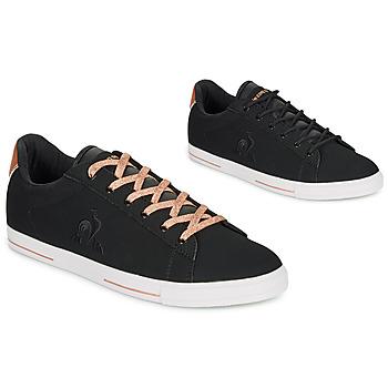 Schoenen Dames Lage sneakers Le Coq Sportif AGATE METALLIC Zwart / Goud