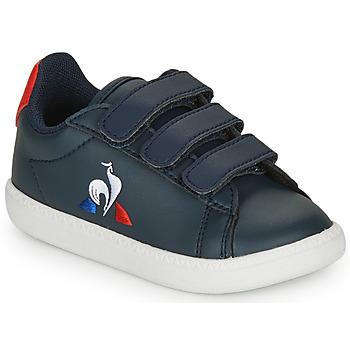 Schoenen Kinderen Lage sneakers Le Coq Sportif COURTSET INF Marine / Rood