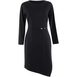 Textiel Dames Jurken Lisca Estelle  lange mouwen jurk zwart Parelmoer Zwart