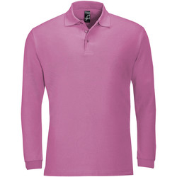 Textiel Heren Polo's lange mouwen Sols WINTER 2 CASUAL MEN Rosa