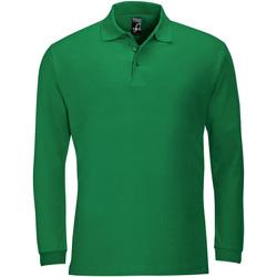 Textiel Heren Polo's lange mouwen Sols WINTER 2 CASUAL MEN Verde