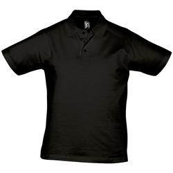 Textiel Heren Polo's korte mouwen Sols PRESCOTT CASUAL DAY Negro