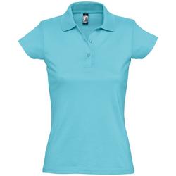Textiel Dames Polo's korte mouwen Sols PRESCOTT CASUAL DAY Azul
