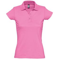Textiel Dames Polo's korte mouwen Sols PRESCOTT CASUAL DAY Rosa